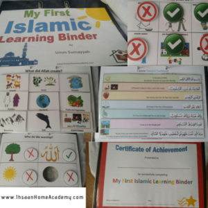 My First Islamic Learning Binder