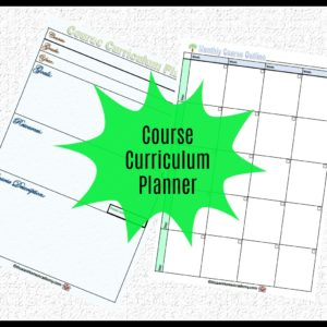 Course Curriculum Planner