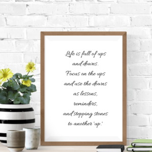 Life's Stepping Stones Inspiration Poster