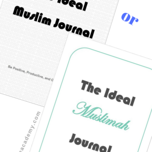 The Ideal Muslim (or Muslimah) Journal