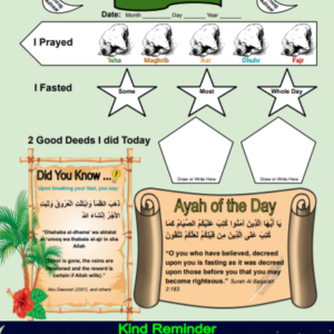 Ramadan Journal and Activity for Kids Edition 1